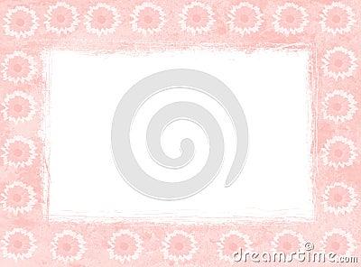 Pink daisy frames