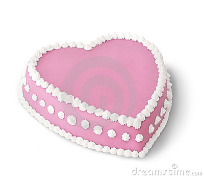 Pink decorated cake