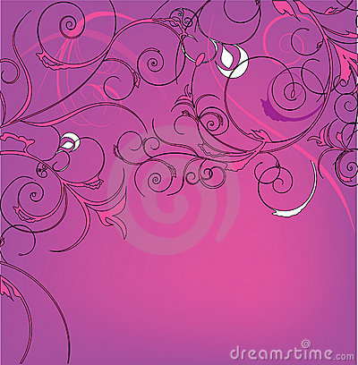 Pink decorative design