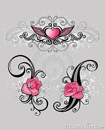Pink design elements