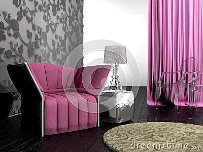Pink design interior