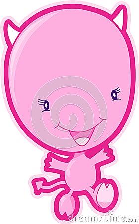 Pink Devil Vector