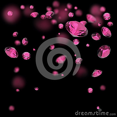 Free Pink Diamonds Background Royalty Free Stock Images - 42010179