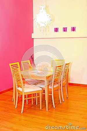 Pink dinning