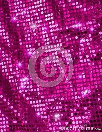 Pink disco glitter