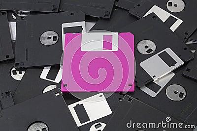 Pink diskette