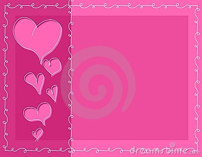 Pink Doodle Valentine Hearts Background