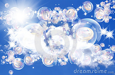 Pink dreams in soap bubbles