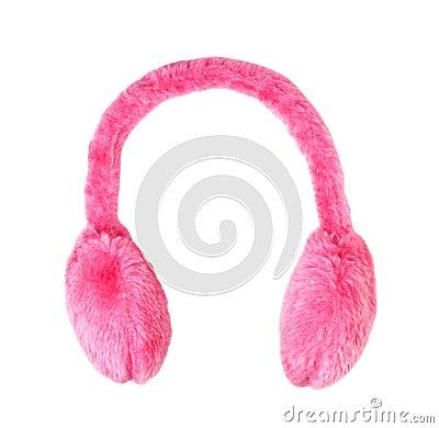 Pink ear-muffs