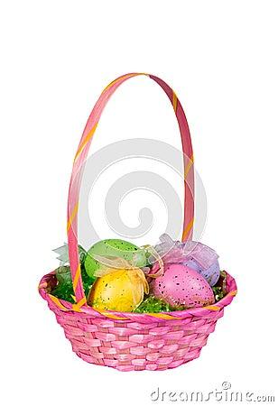 Free Pink Easter Egg Basket Royalty Free Stock Photo - 38455735