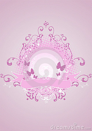 Pink emblem, design element
