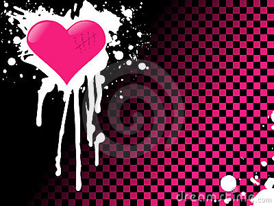 Pink emo heart background