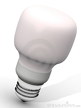 Pink energy saver light bulb