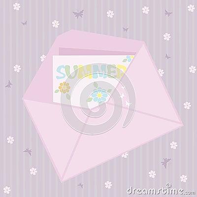 Pink envelope