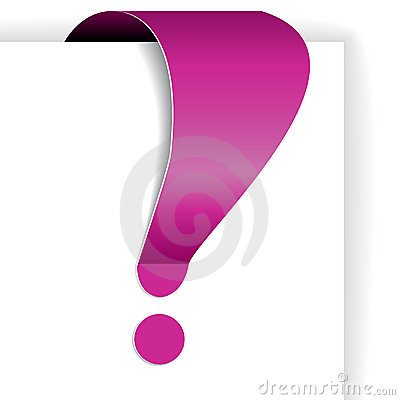Pink exclamation mark - tag for important items