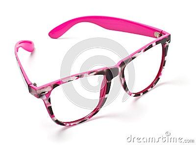 Pink eyeglasses