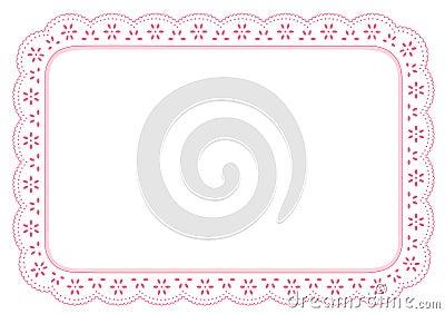 Pink Eyelet Lace Place Mat