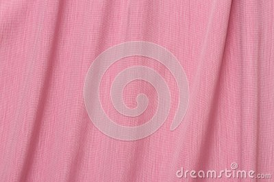 Pink fabric with folds