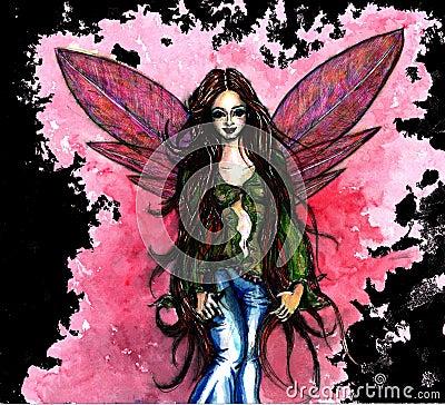 Pink fairy black