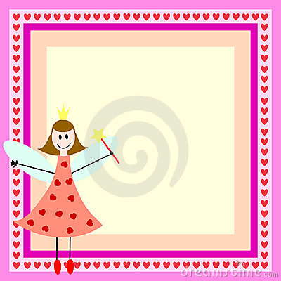 Pink fairy in frame
