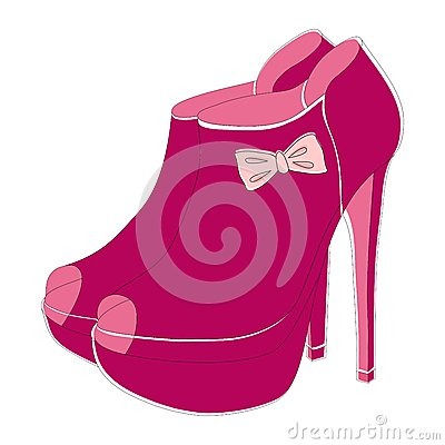 Pink fashionable shoes