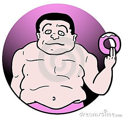 Pink fat food
