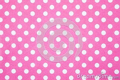 Pink felt polka dot background