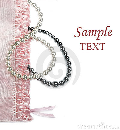 Pink feminine setting with pearls