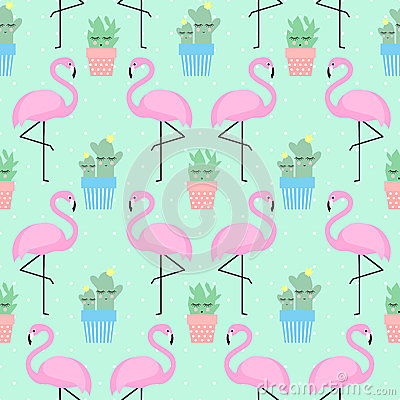 Free Pink Flamingo With Cactus Royalty Free Stock Photos - 78415408