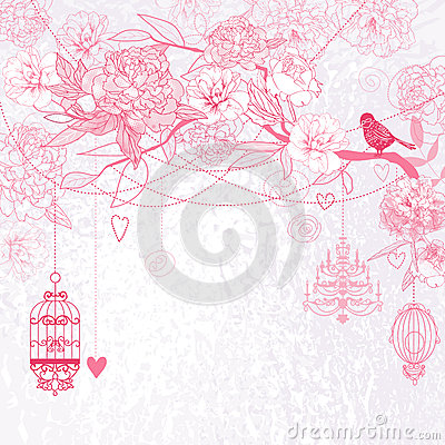 Free Pink Floral Background Royalty Free Stock Image - 24824696