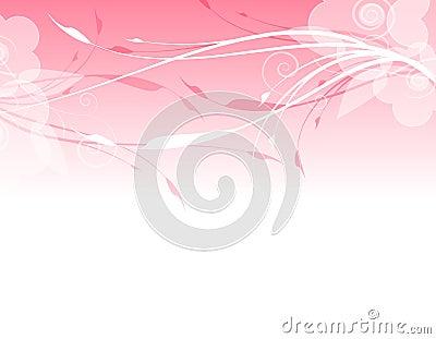 Pink Floral Background Border