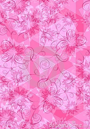 Pink Floral Background Texture