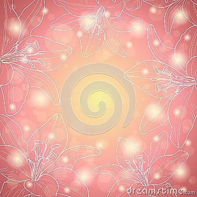 Pink floral border