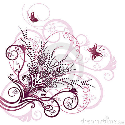 Free Pink Floral Corner Design Element Royalty Free Stock Photos - 15541838