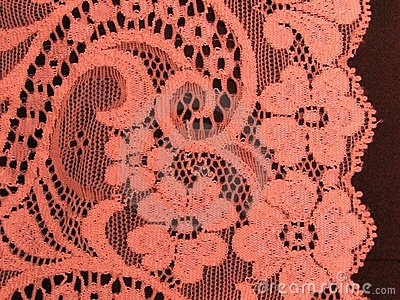 Pink floral lace band
