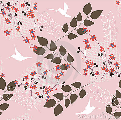 Pink Floral Wallpaper on Pink Floral Pattern