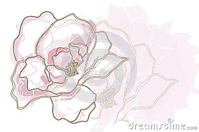 Pink Flower Illustrati...