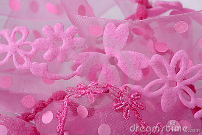 Pink Flower Lace Background