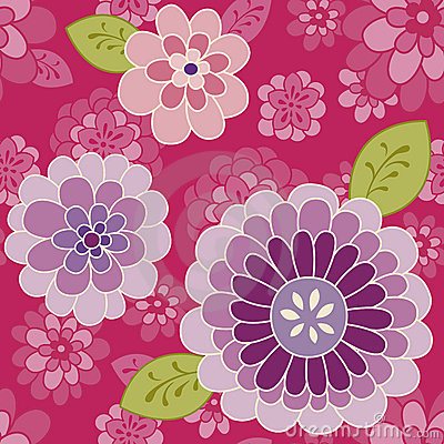 Free Pink Flower Pattern | Vector Seamless Background Stock Photos - 18786633