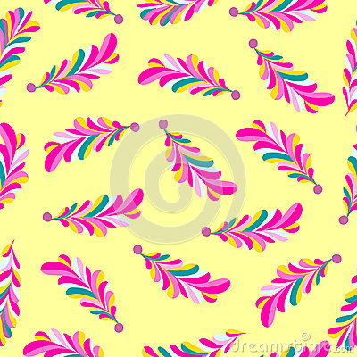 Free Pink Flower Petals Abstract Vector Seamless Pattern On A Yellow Background Stock Photo - 56524890