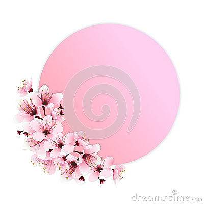Pink flowers decoration Vector Illustration