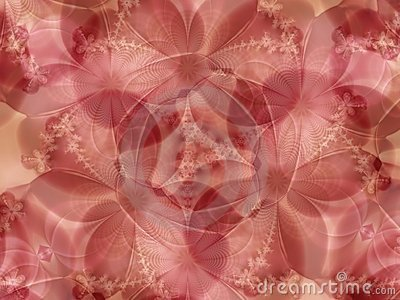 Pink Flowers Lace Background