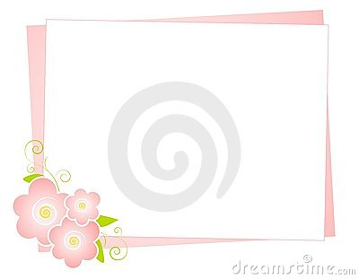Pink Flowers Note Paper Background