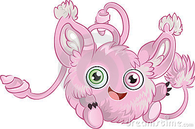 Pink fluffy little animal