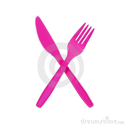 Free Pink Fork And Knife Stock Photos - 2244023