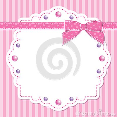 Pink frame with bow