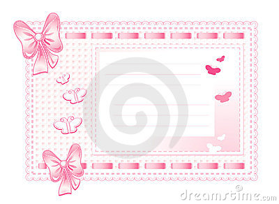 Pink framework made of cloth with bows