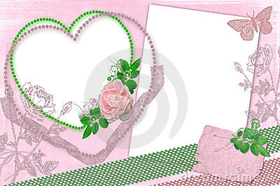 Pink framework with roses