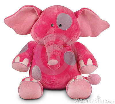 Pink funny elephant
