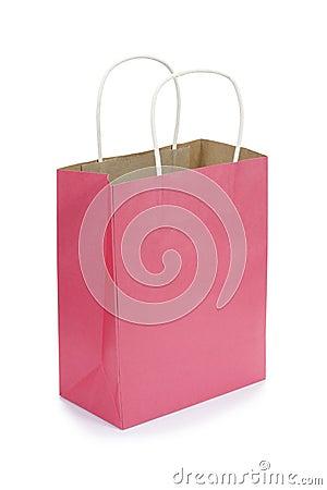 Pink gift bag.